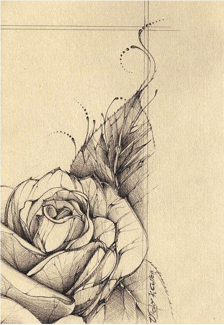 Vintage rose Tattoo Desing