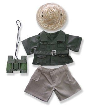 "Safari Boy Outfit Teddy Bear Clothes Fit 14"" - 18"" Build-a-bear, Vermont Teddy Bears, and Make Your Own Stuffed Animals by The Bear Mill, Inc. $14.99. Adorable stuffed animal and doll clothes; Fits most 14""-18"" Stuffed Animals and Dolls including Build-A-Bear, Vermont Teddy Bear, Animalland, Nanco, Ganz, Bear mill, Teddy Mountain and more."