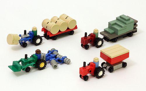 #LEGO #microscale Farm Equipment