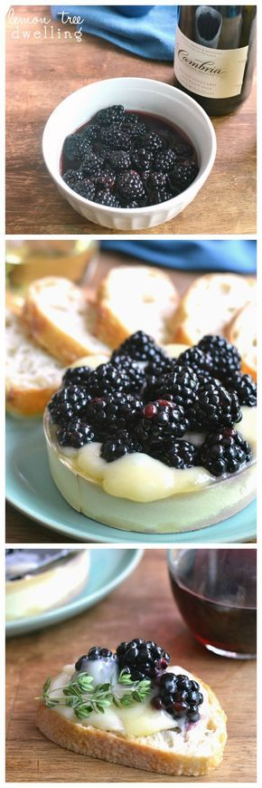 Baked Brie with Wine-Soaked Blackberries