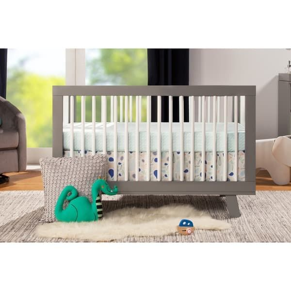 Babyletto Hudson 3 In 1 Convertible Crib W Toddler Bed Conversion Kit Cribs Convertible Crib Toddler Bed
