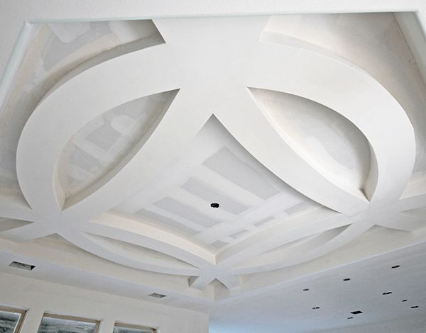 Drywall astroid arched ceiling by Archways and Ceilings