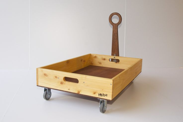 Wooden trolley - available at www.hebe.kiwi.nz