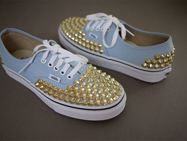 #Footwear Makeover -- Studded #Sneakers  #Beauty