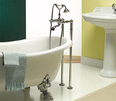 Nostalgie Landhausstil 2-Griff Stand-Badewannenarmatur für freistehende Badewann