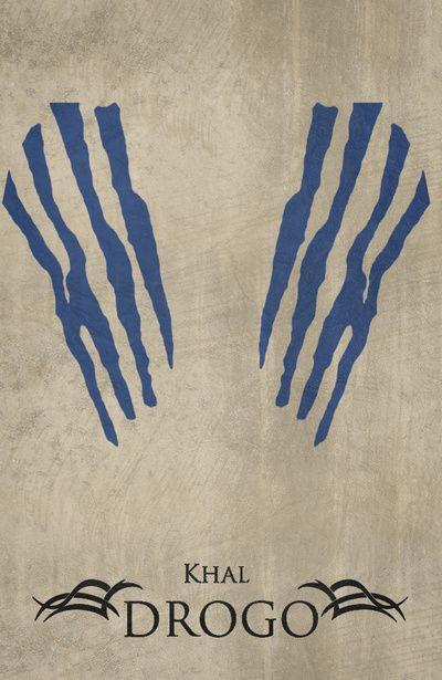 Khal Drogo - Minimalist Poster Art Print Basically the tattoo I want.