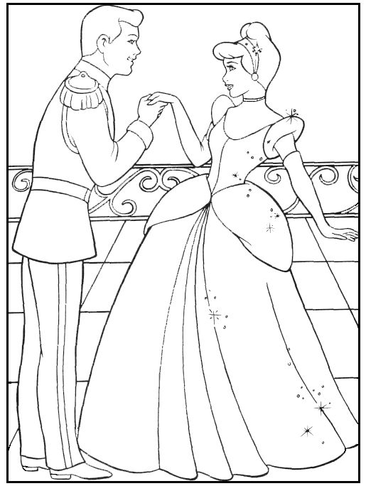 Cinderella Coloring Pages Disney SheetsKids PagesKids ColouringDisney Princess PagesWedding