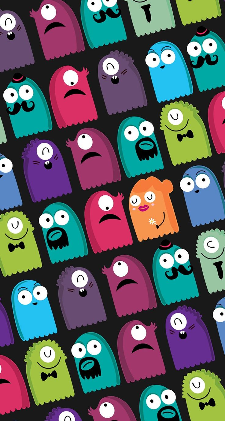 Wallpaper iphone monster - Wallpaper Monster And Colors Image