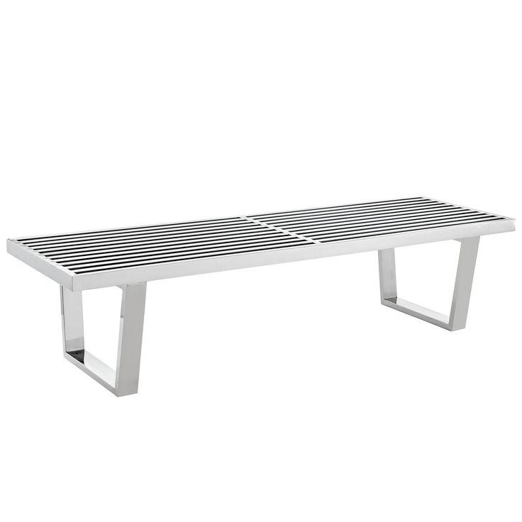 Modway Sauna Stainless Steel Bench