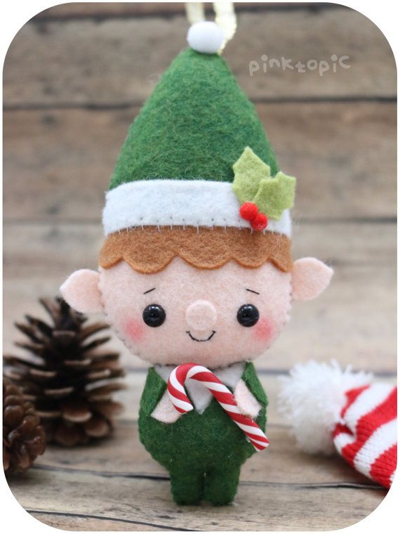 Christmas Elf / Santa Helper - Felt Christmas Ornament
