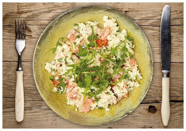 Cremiges Zitronen-Lachs-Risotto