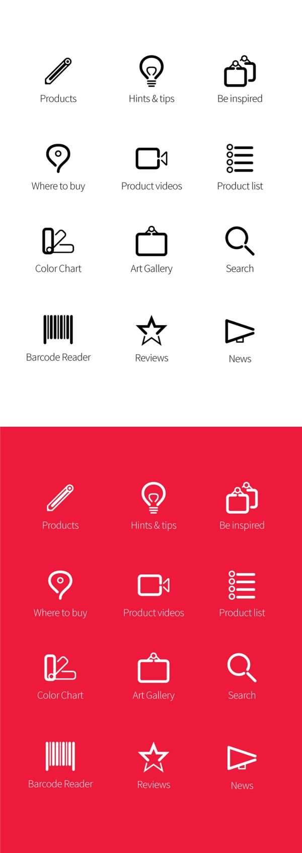 Icon Design: Derwent by Ozgur Ozserin, via Behance
