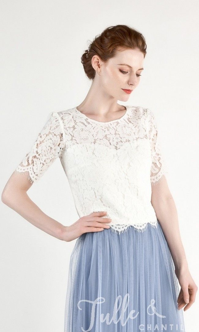 701ad31646 Long Sleeves Lace Top for Bridesmaids TBQT018 in 2019 | Dream ...