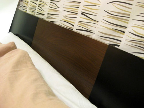 @Samantha Martin this headboard is a few cheap end tables (like the ones they sell at target in fun colors)