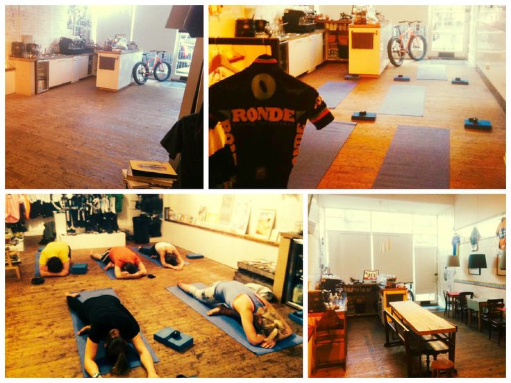 Turning an awesome bike shop into a Cycle Specific Yoga space four times a week in Stockbridge, Edinburgh.