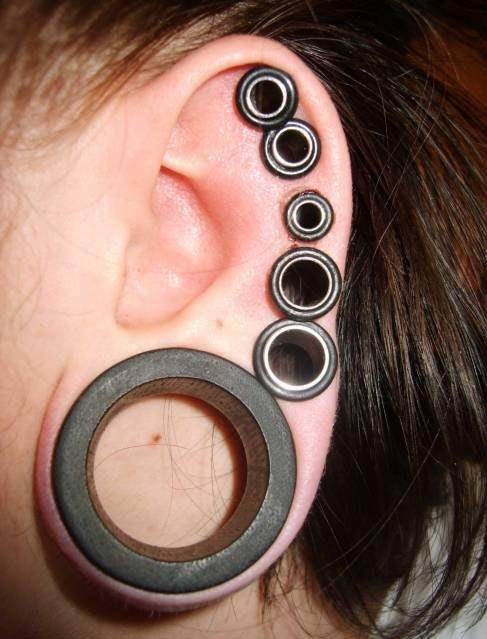 Shop 16 Pieces Silicone Flesh Tunnels Ear Stretchers Plugs Body Piercing Expanders, Black. Free delivery on eligible orders of £20 or more/5.