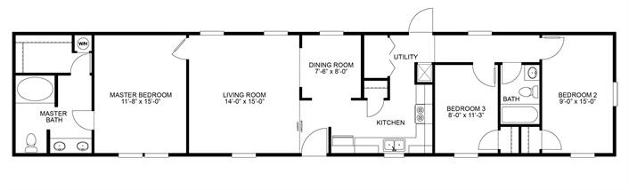 8 best mobile homes wishlist images on pinterest mobile for 3br 2ba house plans