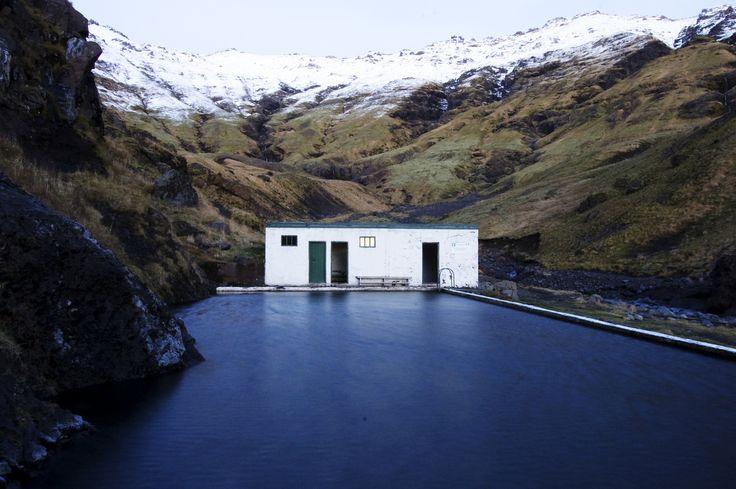 Seljavallalaug nearSkógarfoss, Iceland. Contributed by Harrison Lane.