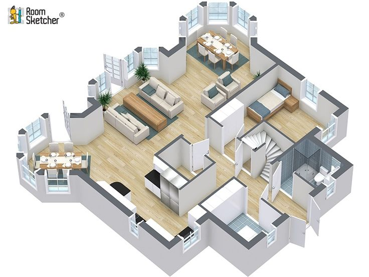 Roomsketcher Is An Easy To Use Floor Plan And Home Design Tool Create Your Floor Plan Furnish And Decorate And Visualize In It Couldn T Be Easier