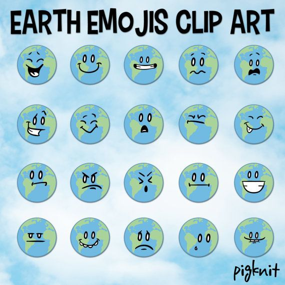 Earth Clip Art Emoticon Clip Art Facial Expressions by pigknit