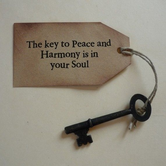 The Key to Peace and Harmony is in Your Soul by YourHeartsContent, $3.50