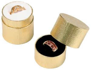 Gold Foil Ring Box    Price: $25.95/100pcs