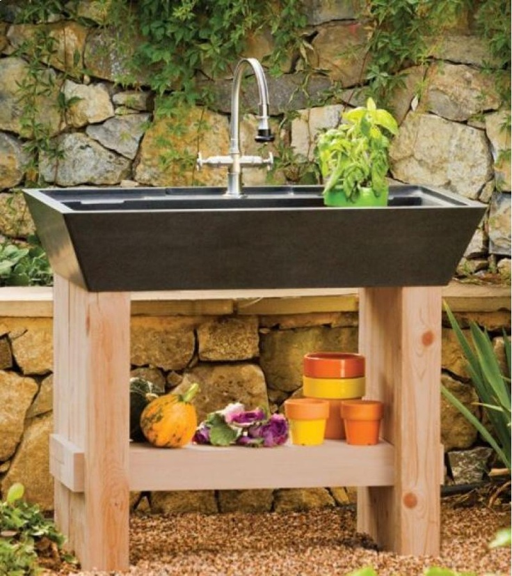 Backyard Kitchen Garden: 87 Best Sink Styles Images On Pinterest