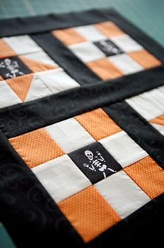 halloween quilt idea would be cool with motorcycle centers