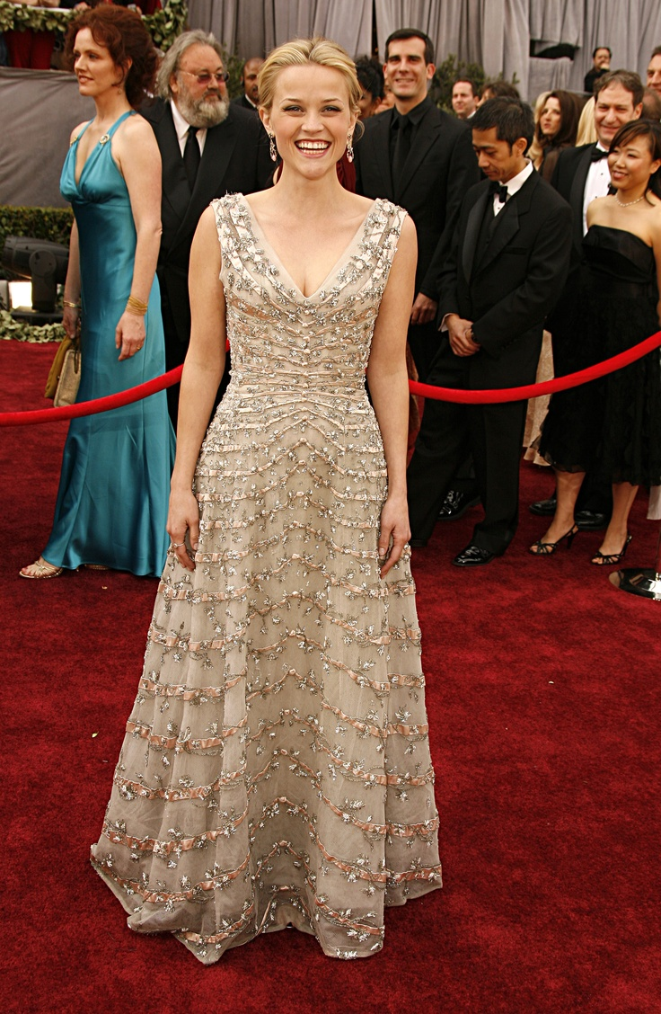 Image result for Reese Witherspoon in Vintage Christian Dior - Academy Awards 2006