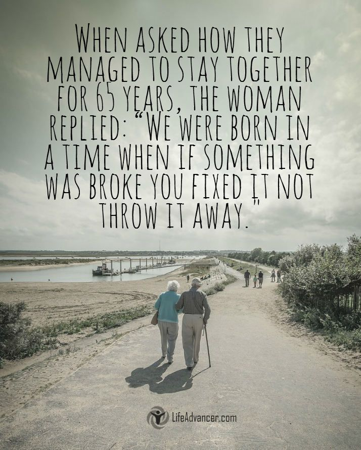 When Asked How They Managed to Stay Together via @lifeadvancer | http://lifeadvancer.com/quotes-gallery