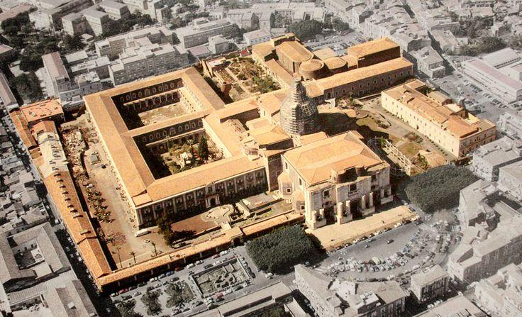 Foto aerea del Monastero dei Benedettini #InvasioniDigitali il 20 aprile dalle ore 16.00 alle ore 18.00 Invasore: Benedettini_OC