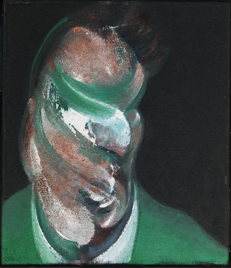 "Francis Bacon, ""Study for Head of Lucian Freud"", 1967 http://bit.ly/1S8VRmT"