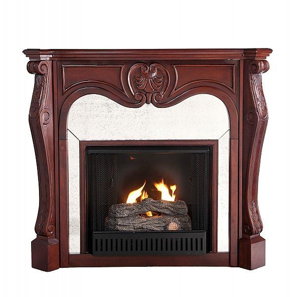 wwwfireplace mantels--romantic style | Holly & Martin Burbank Cherry Gel  Fireplace 37- - Gel Fireplace Mantels IDI Design