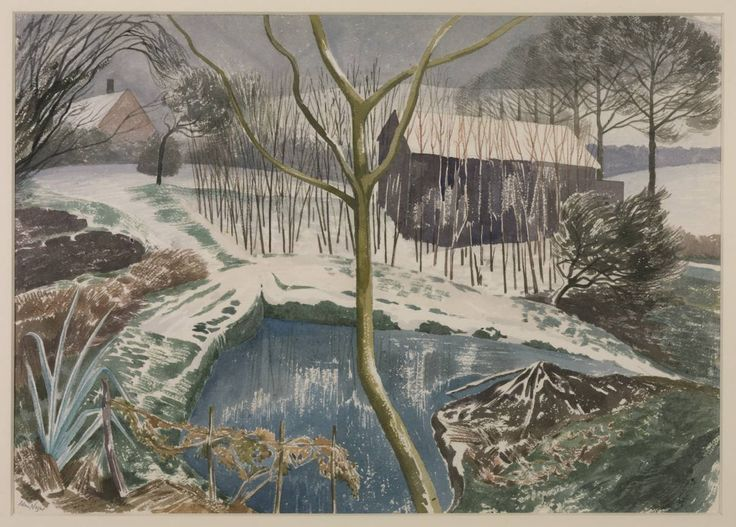 John Nash (1893‑1977)   Wild Garden, Winter /  1959  / Watercolour on paper / 406 x 571 mm Collection Tate