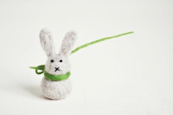Needle felted Easter Bunny by ShpilkaFelt on Etsy, $17.00