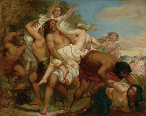 The Tribe of Benjamin Seizing the Daughter of Shiloh - John Everett Millais 1847