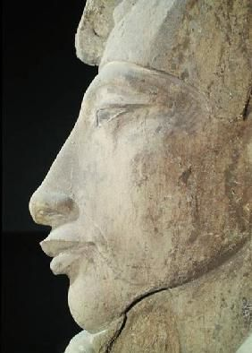 Egyptian - Bust of Amenophis IV (Akhenaten) (c.1364-1347 BC) from the Temple of Amun, Karnak
