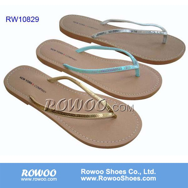 Comfort and fashion flat summer sandals 2014 for women with sequins $1.89~$2.89