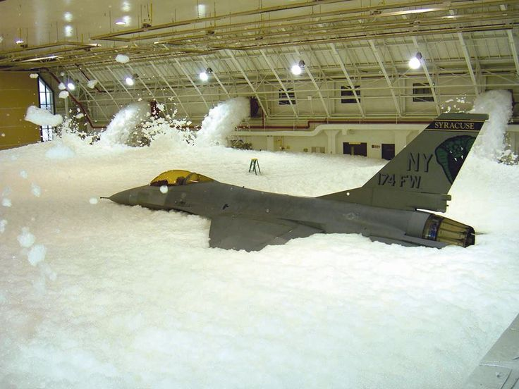 Foam Dump F 16 Usaf Crash Rescue Funny Pictures Weird