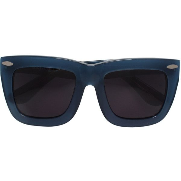 Grey Ant Status sunglasses ($238) ❤ liked on Polyvore featuring accessories, eyewear, sunglasses, blue, acetate sunglasses, grey ant, acetate glasses, blue glasses and grey ant glasses