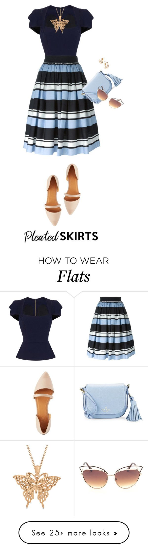 """Senza titolo #4759"" by waikiki24 on Polyvore featuring Roland Mouret, Dolce&Gabbana, Charlotte Russe, Kate Spade, Allurez and pleatedskirts"