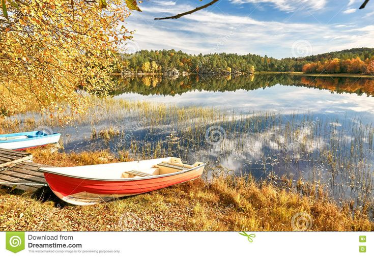 Colorful Boats On Norwegian Lake - Download From Over 58 Million High Quality Stock Photos, Images, Vectors. Sign up for FREE today. Image: 79042166