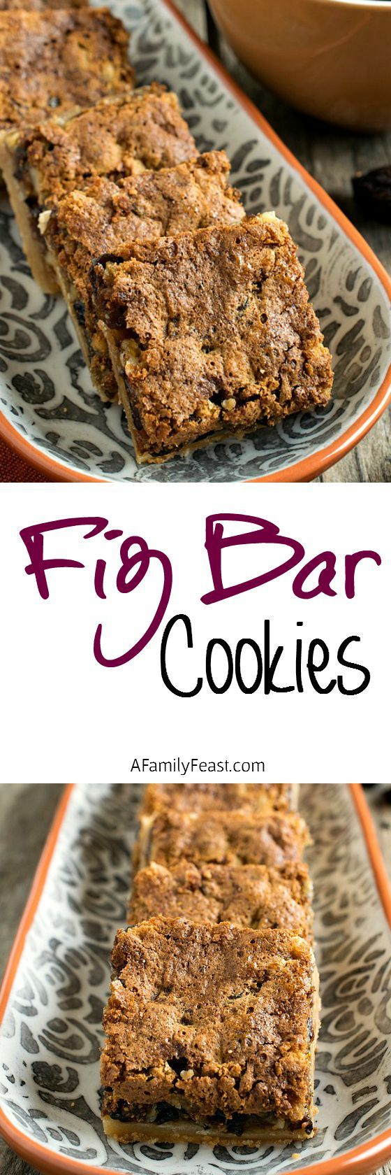 Fig Bar Cookies - Rich, sweet and slightly crunch bars filled with a decadent fig filling. Delicious!