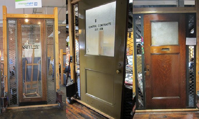"""The Johnson Group, Chattanooga, TN  """"The decorative doors around our office were salvaged from old Chattanooga buildings, giving us a way preserve a bit of our local history. (Also, we're suckers for that industrial chic look)."""""""