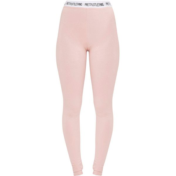 Pretty Little Thing Nude Leggings ❤ liked on Polyvore featuring pants, leggings, pink leggings, jersey knit pants, pink pants, nude leggings and legging pants