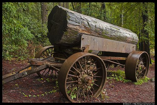 Tractor Pulled Wagon : Old logging wagon flickr photo sharing horse drawn