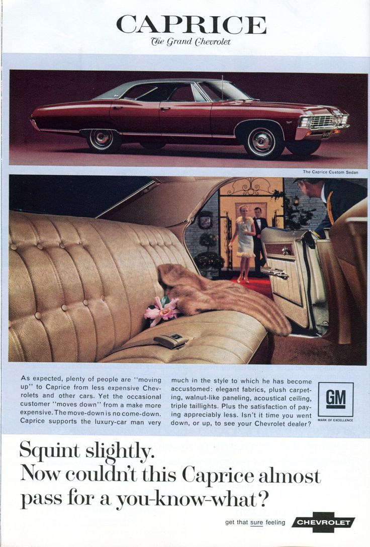 1967 Chevrolet Caprice Advertisement National Geographic April 1967
