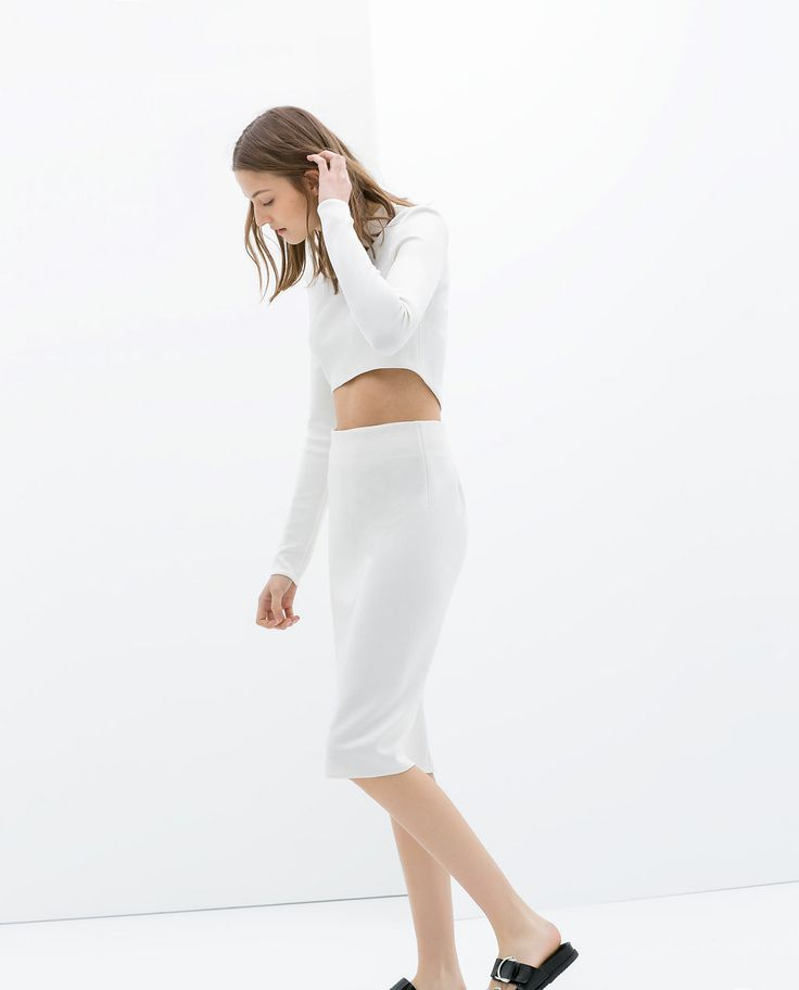 ASYMMETRIC CROP TOP from Zara