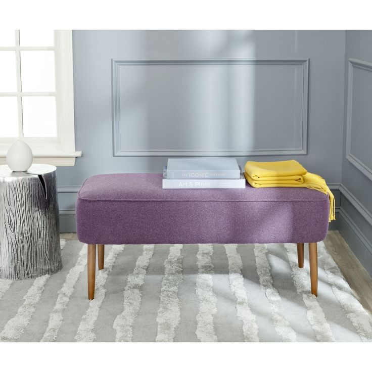 Recapturing The Design Aesthetic Of The Fifties In Dashing Style, The Levi  Bench In Plum