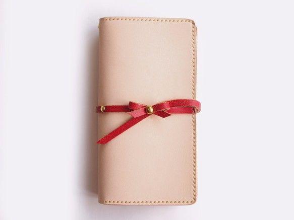 【iPhone6/6s】ビンテージ加工のリボン付き手帳型ケース<赤>|iPhoneケース・カバー|ROYAL ATTRIBUTE|ハンドメイド通販・販売のCreema